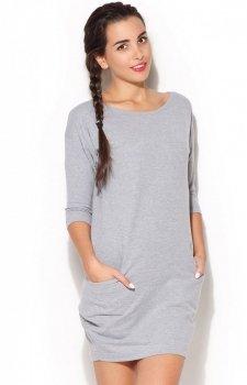 *Katrus K181 sukienka szara