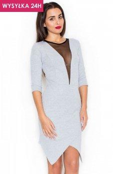 *Katrus K320 sukienka szara