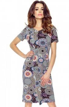 Bergamo 55-06 sukienka mozaika