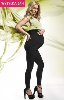 *Bas Bleu Melanie PZ legginsy ciążowe czarne