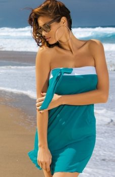 Marko Mia M-241 tunika plażowa morska zieleń