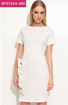 *Makadamia M350 sukienka ecru