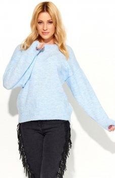 Makadamia S58 sweter błękitny