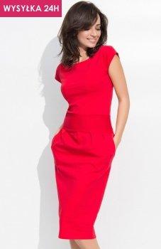 *Numinou NU44 sukienka czerwona