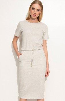 Makadamia M345 sukienka beżowa