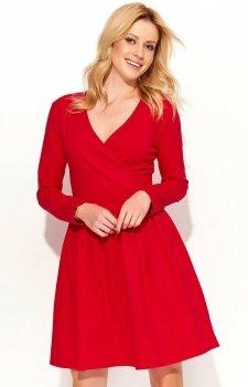 Makadamia M374 sukienka czerwona