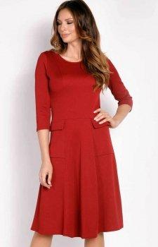 LOU LOU L012 sukienka bordowa
