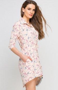 Lanti SUK142 sukienka różowa