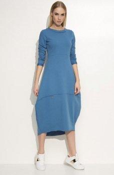 Makadamia M337 sukienka jeansowy
