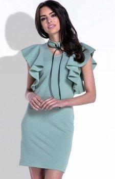 Fobya F412 sukienka oliwkowa
