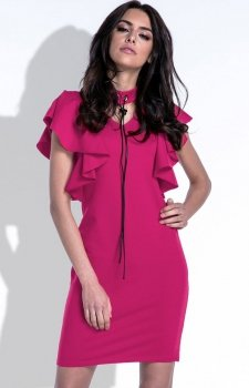 Fobya F412 sukienka amarant
