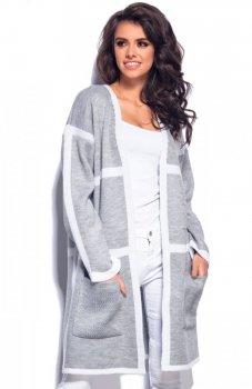 Lemoniade LS181 sweter szaro-biały