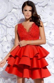 Bicotone 2127-02 sukienka czerwona