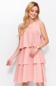 Makadamia M381 sukienka brudny róż