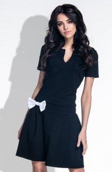 Fobya F374 sukienka czarna
