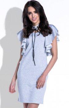 Fobya F412 sukienka szara