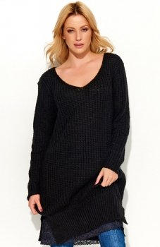 Makadamia S55 sweter czarny
