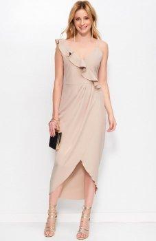 Makadamia M396 sukienka cappucino