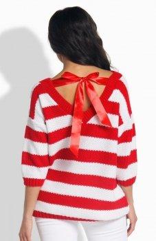 Lemoniade LS183 sweter czerwony