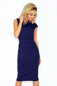 SAF 144-1 sukienka ciemny niebieski