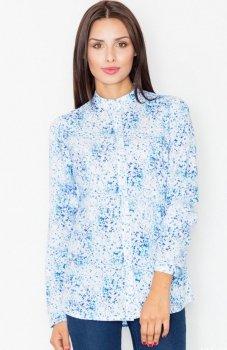 Figl M504 koszula niebieska