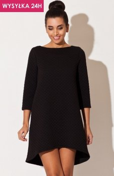 *Katrus K134 sukienka pikowana czarna