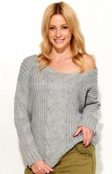 Makadamia S59 sweter szary