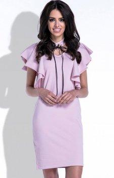 Fobya F412 sukienka pudrowy róż