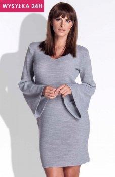 *FIMFI I154 sukienka szara