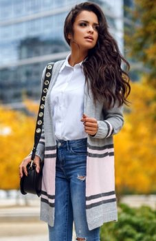 Envy Me EM604 sweter pudrowy róż