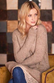 Makadamia S55 sweter cappucino