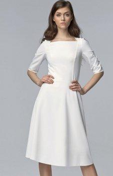 *Nife S63 sukienka ecru