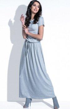 Fobya F396 sukienka szara