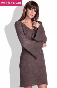 *FIMFI I154 sukienka brązowa