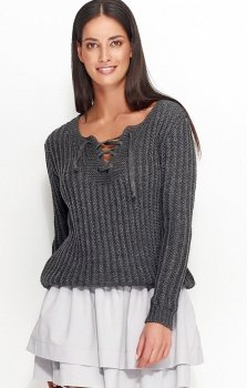Numinou NU_S28 sweter grafitowy