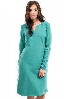 BE B017 sukienka zielona