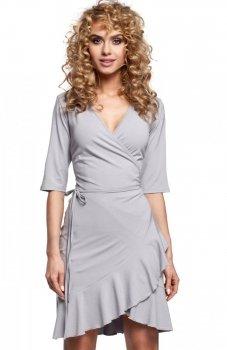 Moe M294 sukienka szara