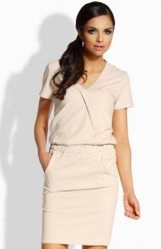 Lemoniade L196 sukienka beżowa