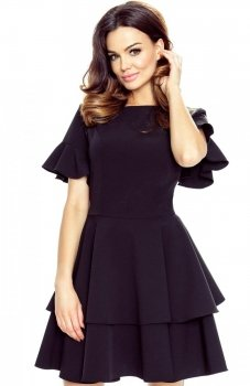 Bergamo 62-04 sukienka czarna