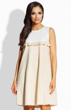 Lemoniade L215 sukienka ecru-beż