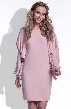 FIMFI I173 sukienka pudrowy róż