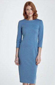 Nife S81 sukienka niebieska