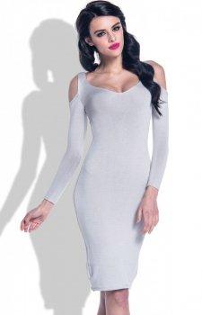 *Fobya F370 sukienka szara