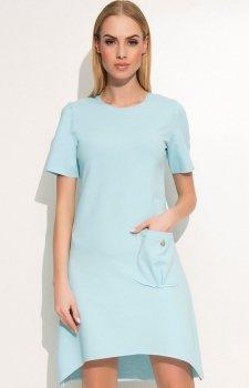Makadamia M360 sukienka błękitna