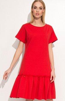 Makadamia M347 sukienka czerwona