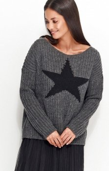 Numinou NU_S26 sweter grafitowy