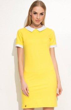 Makadamia  M353 sukienka żółta