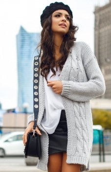 Envy Me EM607 sweter szary