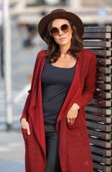 Lapasi L029 sweter czerwony
