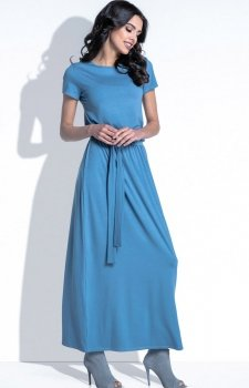 Fobya F396 sukienka niebieska